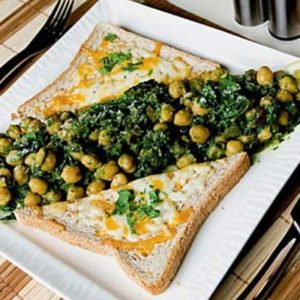 Spinach and Chickpeas Meal