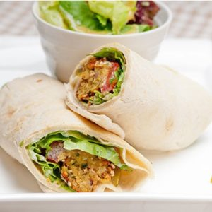 Baked Spinach Falafel Roll