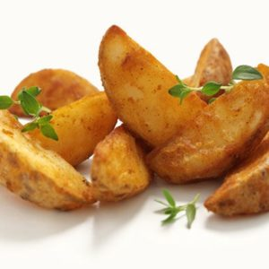 Garlic Dil Baked Red Wedges